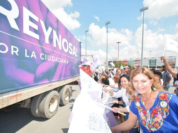 Casi 90 toneladas de ayuda de ciudadanos reynosenses para Morelos y Oaxaca.