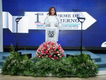 """""""CUENTA CONMIGO ES UNA CONVICCIÓN DE SERVIRLE A NUESTRA GENTE""""; RINDE ROSY CORRO SU PRIMER INFORME DE GOBIERNO."""