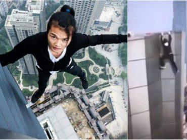 VIDEO: Youtuber chino cae de un rascacielos tras intentar una pirueta.