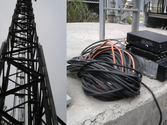 Desmantelan antena de radiocomunicación en Valle Hermoso.