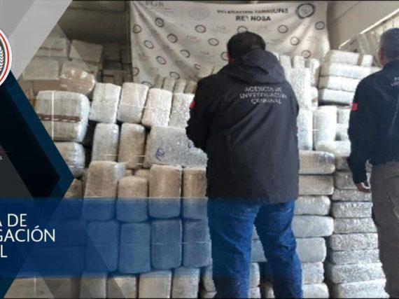 Más de seis toneladas de marihuana fueron aseguradas en Reynosa.