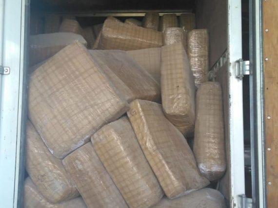Aseguran 3.5 toneladas de droga en Valle Hermoso.