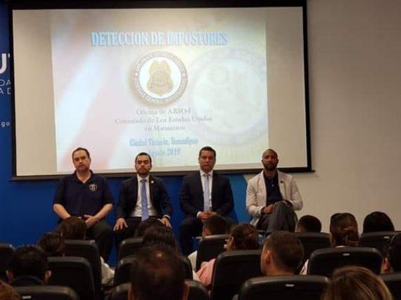 El Consulado General de los Estados Unidos en Matamoros, capacita a servidores públicos de la PGJ, SSP, C3, C4 Y CEDES.