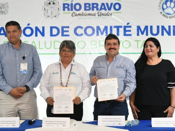 *Instalan Comité Municipal de Salud en Río Bravo.*