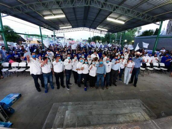 MULTITUDINARIO CIERRE DE CAMPAÑA DE RAMIRO CORTEZ BARRERA, CANDIDATO DE ACCIÓN NACIONAL A LA PRESIDENCIA MUNICIPAL DE MIGUEL ALEMÁN.