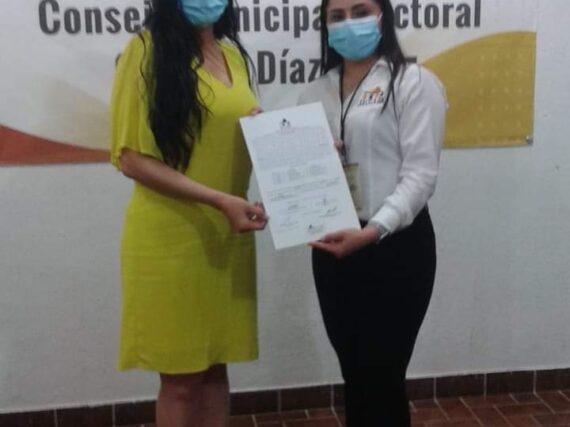 NATALY GARCÍA, RECIBE CONSTANCIA DE MAYORÍA Y SE CONVIERTE EN LA PRIMERA ALCALDESA ELECTA DE DIAZ ORDAZ.