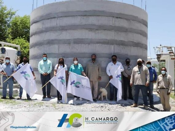 AUTORIDADES MUNICIPALES SUPERVISAN OBRA DE CONSTRUCCIÓN DE UN TANQUE CISTERNA EN EL POBLADO COMALES