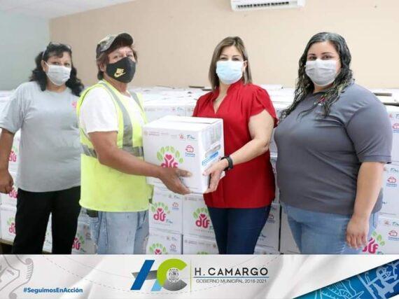 ALCALDESA PONE EN MARCHA LA ENTREGA DE DESPENSAS DEL PROGRAMA CANASTA BÁSICA FAMILIAR.