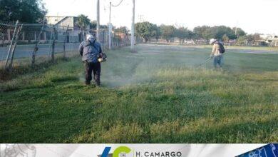 REALIZA SERVICIOS PRIMARIOS LIMPIEZA EN LA UNIDAD DEPORTIVA PEDRO HARO CAMACHO