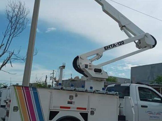 Incrementa Gobierno de Reynosa alumbrado en plazas y colonias