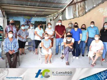 ENTREGAN DESPENSAS DEL PROGRAMA CANASTA FAMILIAR EN EL EJIDO El CADILLO