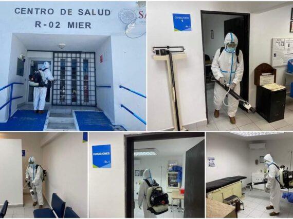 SANITIZAN INSTALACIONES DEL CENTRO DE SALUD DEL PUEBLO MÁGICO