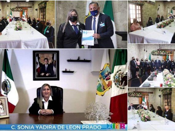 Rinde Sonia Yadira de León Prado 3er. y último Informe de Gobierno Municipal