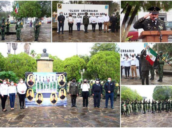 Conmemoran el 174 Aniversario de la gesta heroica de los Niños Héroes de Chapultepec en Mier, Tamaulipas