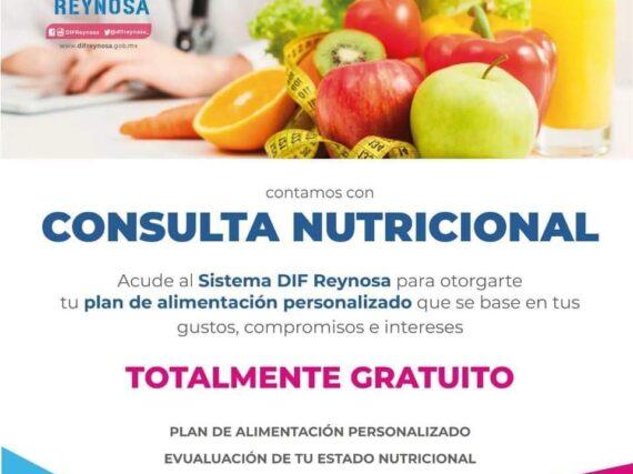 DIF Reynosa ofrece asesoría nutricional gratuita