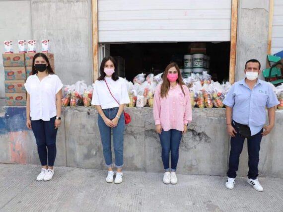 Entrega DIF Reynosa canasta básica a CEDES