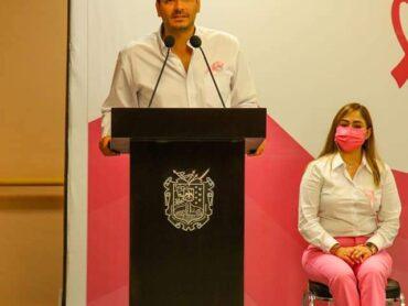 Exhorta alcalde Carlos Víctor Peña Ortiz, a sumarse en la lucha contra el cáncer de mama.