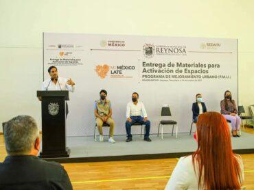 Recibe Municipio materiales del Programa de Mejoramiento Urbano
