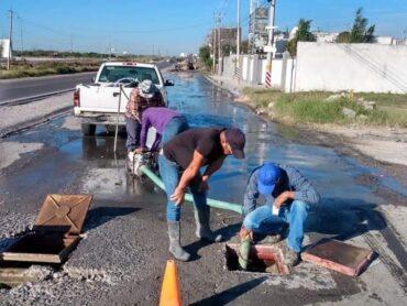 Reparó COMAPA fuga de agua potable en Fracc. Ventura