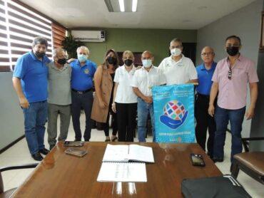 RECIBE ALCALDE LA VISITA DEL PRESIDENTE DEL CLUB ROTARIO ROMA-MIGUEL ALEMÁN